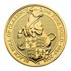1 Ounce Queen's Beast Black Bull Of Clarence Gold Coin 999.9