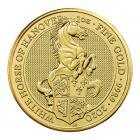 1 Ounce Queen's Beast The White Horse Of Hanover Gold Coin 999.9