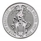 2 Ounce Silver Queen's Beast Yale Of Beaufort (2019)