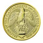 1 Ounce Queen's Beast Falcon Of The Plantagenets Gold Coin 999.9