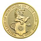 1 Ounce Queen's Beast White Lion Of Mortimer Gold Coin 999.9