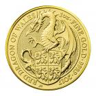 1 Ounce Queen's Beast Red Dragon Of Wales Gold Coin 999.9