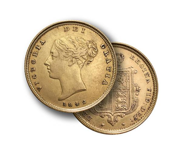 22ct 4 Gram Half Gold Sovereign Coin (Victoria Young Head) CGT Free* image