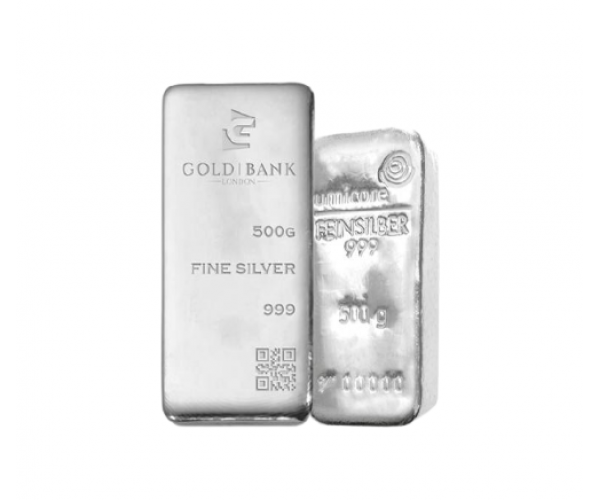 500 Gram Mixed Brands Investment Silver Bar .999 image