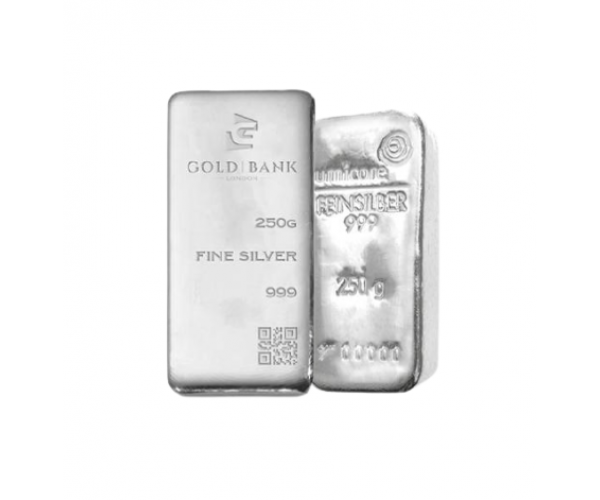 250 Gram Mixed Brands Investment Silver Bar .999 image