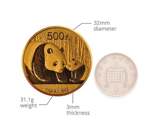 30 Gram Chinese Gold Panda Coin 999.9 (Mixed Years) image