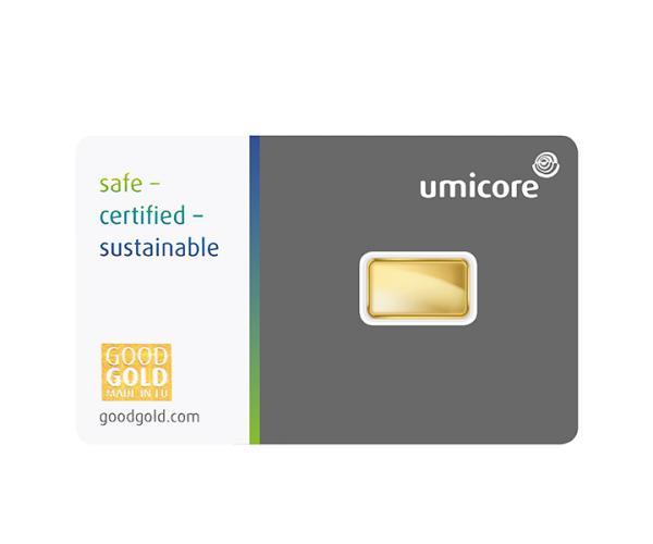1 Gram Umicore Investment Gold Bar (999.9) image