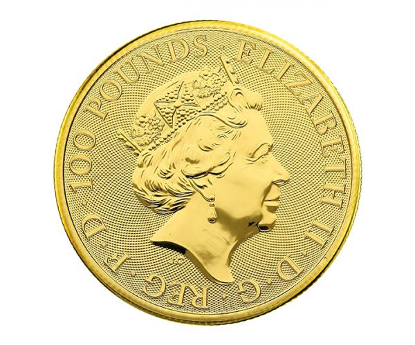 1 Ounce Gold Queen's Beast White Greyhound Of Richmond (2021) image