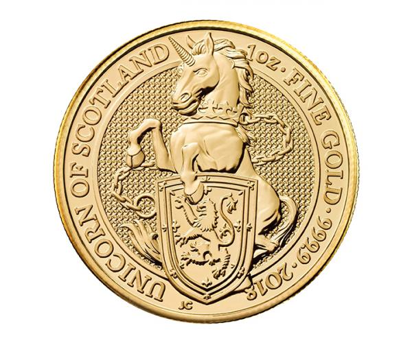 1 Oz Queen's Beast Unicorn Of Scotland Gold Coin image