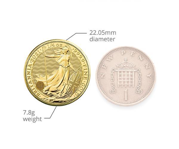 1/4 Oz Gold Britannia (Mixed Years) image