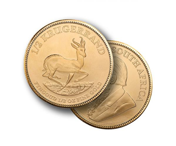 1/2 Oz Gold Krugerrand (Mixed Years) image