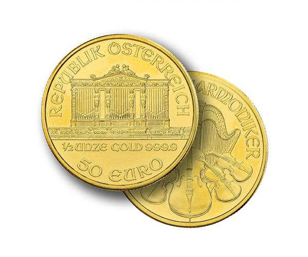 1/2 Half Ounce Austrian Gold Philharmonic (Mixed Years) image