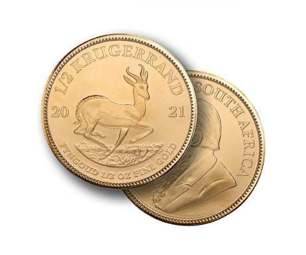1/2 Oz Gold Krugerrand (2021) image