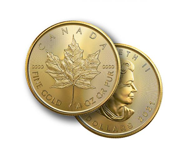 1/4 Ounce Maple Leaf Gold Coin (2021) image