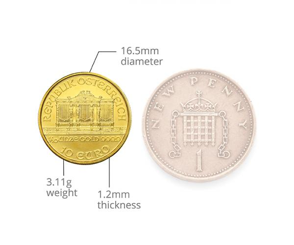 1/10th Ounce Austrian Gold Philharmonic (Mixed Years) image