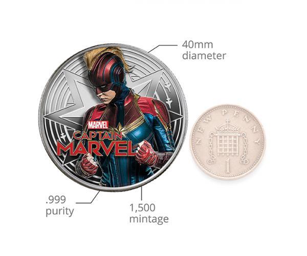 1 Ounce Captain Marvel Silver Coin (Gift Set) image