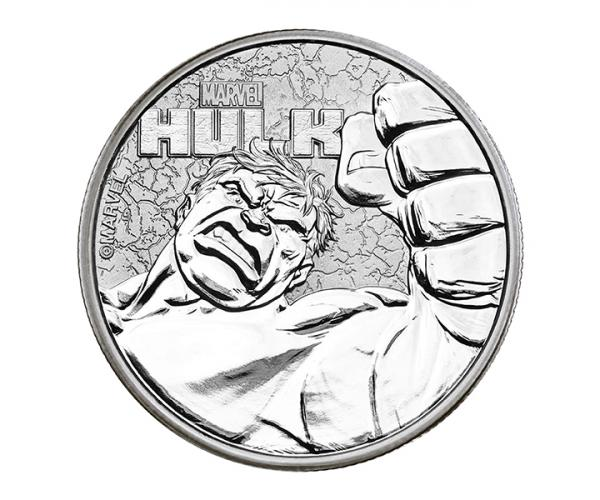 1 Ounce Marvel Series The Incredible Hulk Silver Coin .999 image