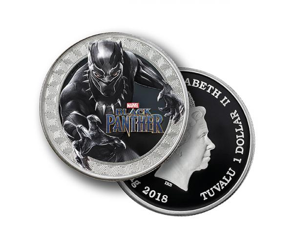 1 Ounce Marvel Series Black Panther Silver Coin (Gift Set) .999 image