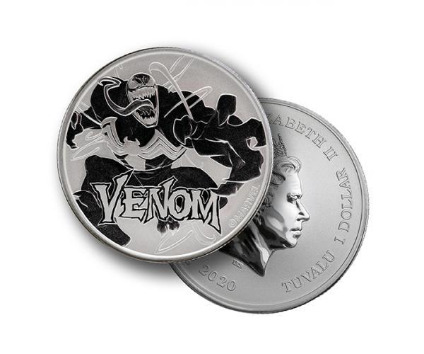 1 Ounce Marvel Series Venom Silver Coin .999 image