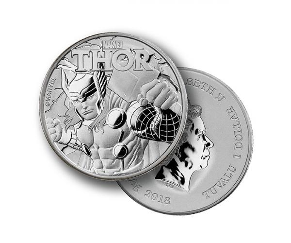 1 Ounce Marvel Series Thor Silver Coin .999 image