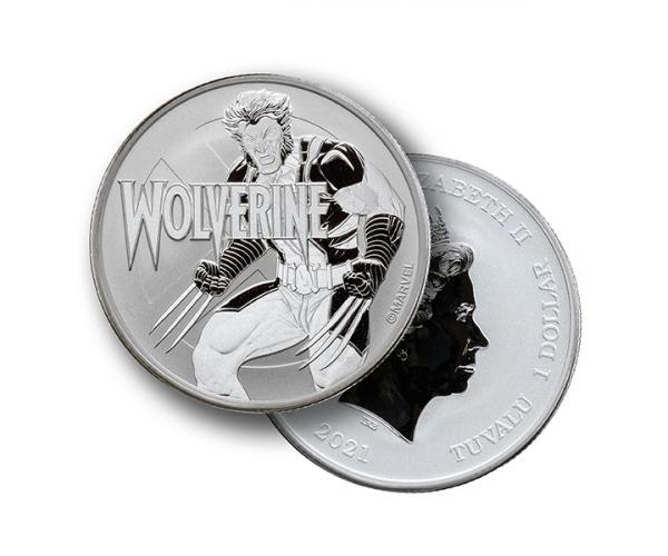1 Ounce Marvel Series Wolverine Silver Coin .999 image