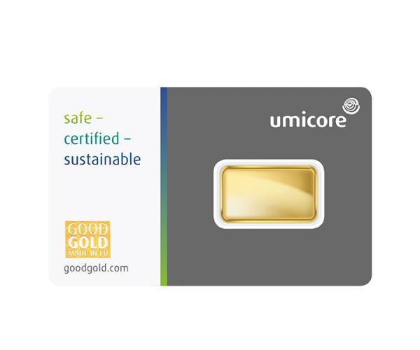 5 Gram Umicore Investment Gold Bar (999.9) image
