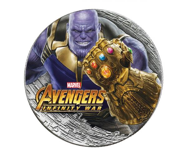 2 Ounce Marvel Series Thanos Silver Coin (Gift Set) .999 image