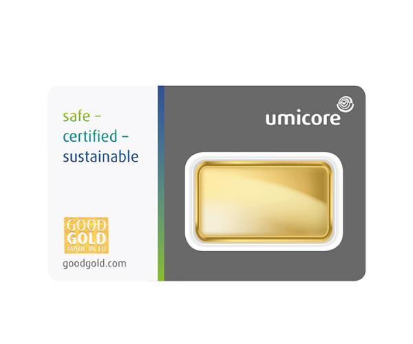 20 Gram Umicore Investment Gold Bar (999.9) image
