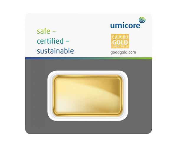 100 Gram Umicore Investment Gold Bar (999.9) image