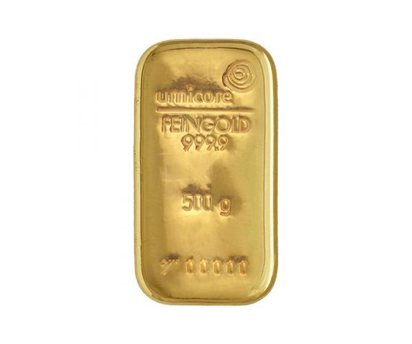 500 Gram Umicore Investment Gold Bar (999.9) image
