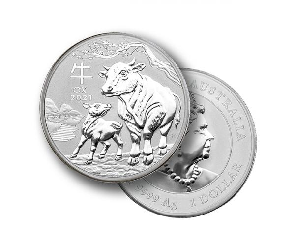 1 Oz Silver Year Of The Ox (2021) image
