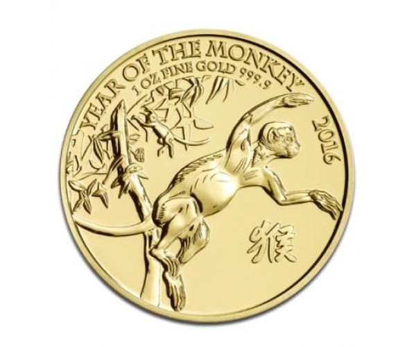1 Oz Gold Lunar Monkey (2016) image