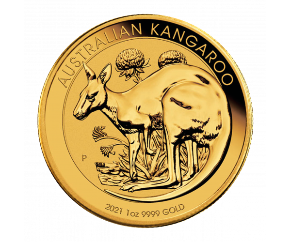 1 Oz Gold Australian Kangaroo (2021) image