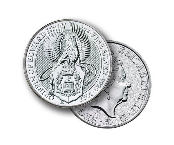 2 Ounce Silver Queen's Beast Griffin Of Edward (2017) image