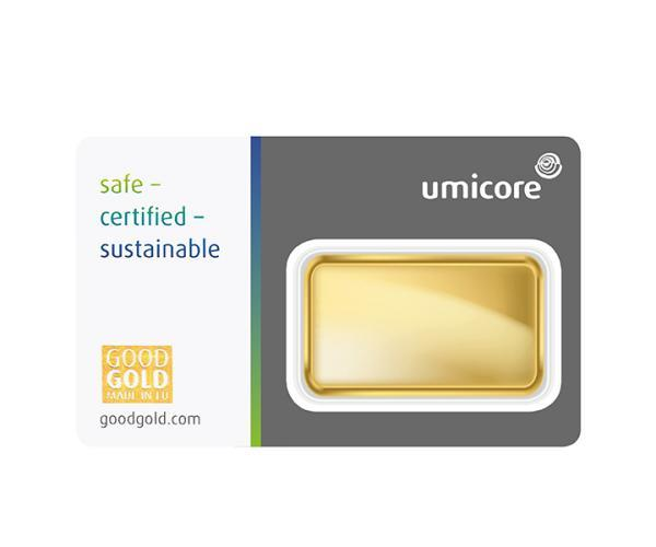 1 Oz Umicore Investment Gold Bar (999.9) image