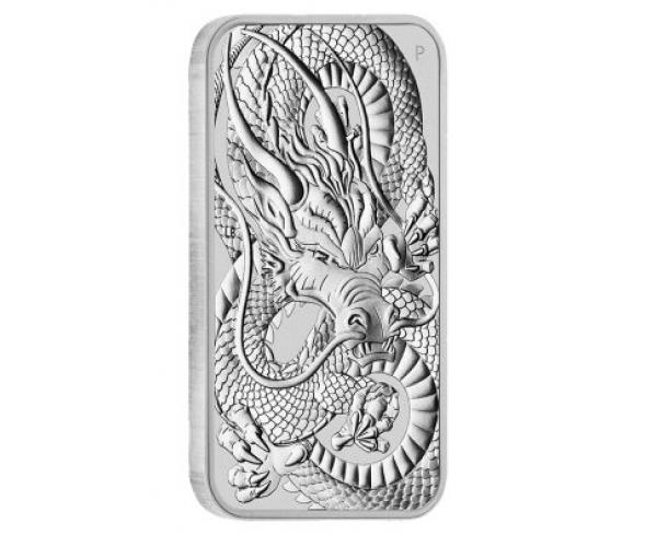 1 Ounce Silver Rectangular Dragon (2021) image