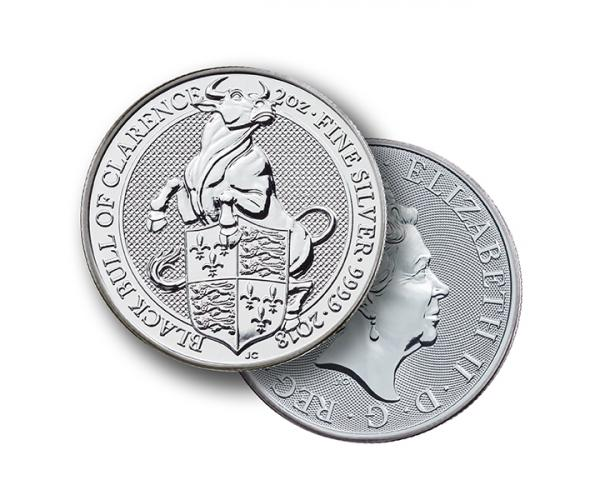 2 Ounce Silver Queen's Beast Black Bull of Clarence (2018) image