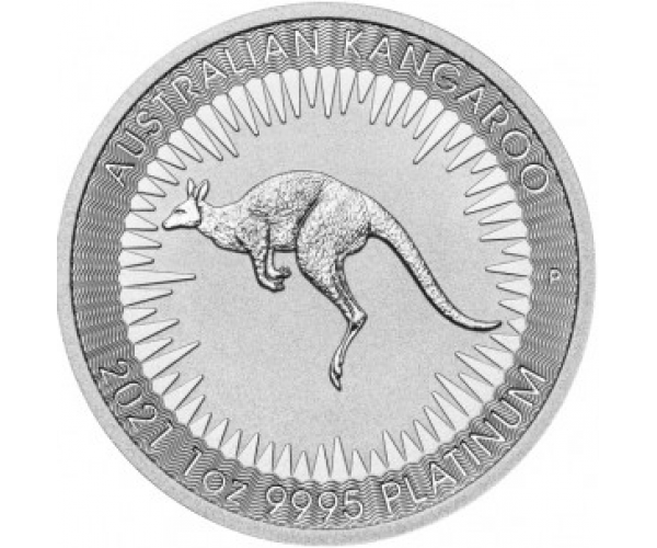1 Ounce Platinum Australian Kangaroo Coin (2021) image