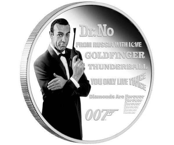 1 Ounce James Bond Legacy Series Fine Silver Coin (2021) image