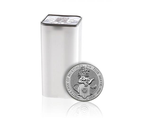 2 Ounce The Queen's Beasts The Lion Of Mortimer 10 Coins In Tube image