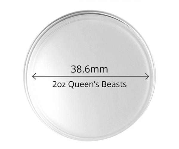 2oz Queen's Beast Coin Capsule Pack Of 10 image