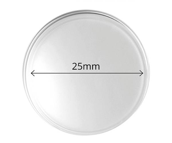 25 mm Empty Coin Capsule Pack Of 10 image