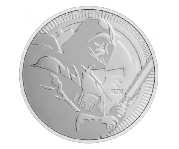 1 Ounce Silver Star Wars Dart Vader Coin .999 image