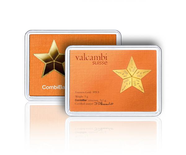 5 x 1g Valcambi Investment Gold CombiBar image