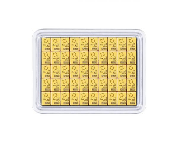 50 x 1g Pure Gold Investment CombiBar 999.9 image