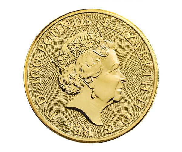1 Oz Queen Beasts Completer Gold Coin 999.9 image