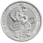 2 Ounce Queen's Beast The Lion Of England (2016) Silver Coin .999
