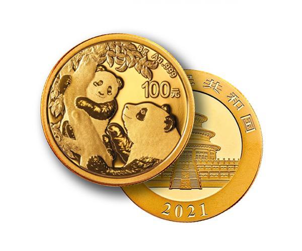 8g Chinese Gold Panda (2021) image