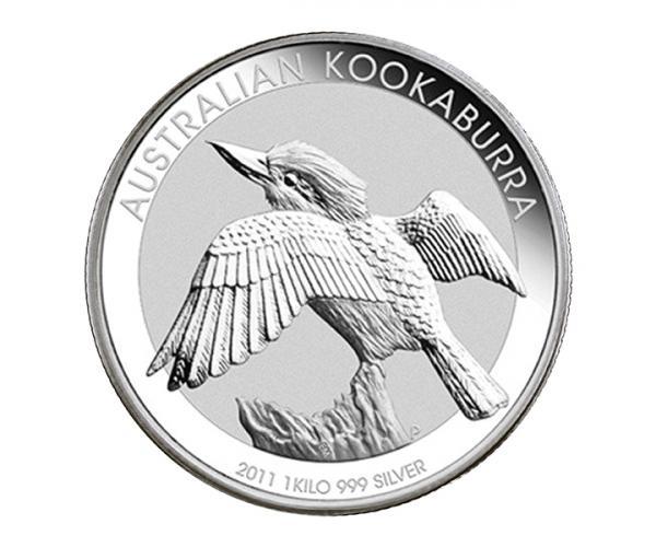 1 kg Silver Australian Kookaburra (Mixed Years) image