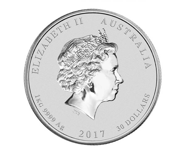 1 kg Silver Year Of The Rooster (Mixed Years) image